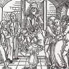 """Сусанна избегает смерти благодаря заступничеству Даниила (иллюстрация к книге """"Рыцарь Башни"""", гравированная Дюрером в 1493 году)"""
