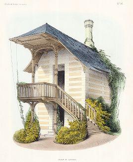 Дом садовника. Habitations Champêtres..., Париж, 1855 год