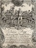Проспект Джеймса Фигга (1695-1734), известного английского боксера, державшего титул чемпиона 11 лет. Фигг являлся также прекрасным шпажистом и давал уроки фехтования, о чем и сообщает данный рекламный листок. Гравюра Хогарта. Лондон, 1838