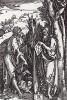 Иоанн Крестититель и Святой Онуфрий в гирлянде из хмеля (гравюра Альбрехта Дюрера)