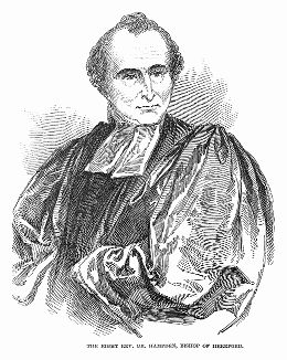 Его Преосвященство Ренн Диксон Хэмпден (1793 -- 1868) -- английский священник, епископ Херефорда (The Illustrated London News №298 от 15/01/1848 г.)