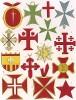 Орден Христа, орден Святого Лазаря, орден Сантьяго и другие рыцарские военные ордены эпохи крестовых походов и раннего Возрождения (из Les arts somptuaires... Париж. 1858 год)