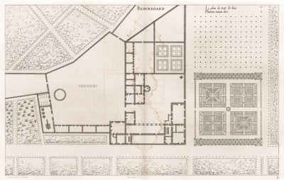 Замок Борегар. Общий план. Androuet du Cerceau. Les plus excellents bâtiments de France. Париж, 1579. Репринт 1870 г.