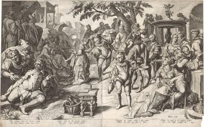 Блудный сын (аллегория праздности и роскоши). Амстердам, 1596