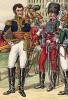 1810 г. Начальник французской кавалерийской школы Сен-Жермен, дивизионный генерал барон Климан де ла Ронсьер (1773-1854) и его адъютант, капитан 19-го полка конных егерей Вейгель. Коллекция Роберта фон Арнольди. Германия, 1911-29