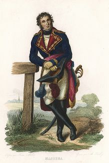 Андре Массена (1758-1817) - маршал Империи. Лист из серии Le Plutarque francais..., Париж, 1844-47 гг.