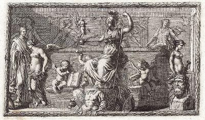 Аллегорическое изображение искусства ваяния. Лист из Sculpturae veteris admiranda ... Иоахима фон Зандрарта, Нюрнберг, 1680 год.