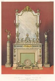 Камин с зеркалом, а также декоративные колонны из алжирского оникса от парижской Algerian Onyx Company. Каталог Всемирной выставки в Лондоне 1862 года, т.2, л.164