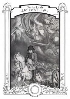 Наполеон, преследуемый валькириями в 1813 г. Титульный лист четвертой части хроники борьбы Пруссии против Наполеона Die Deutschen Befreiungskriege 1806-15. Берлин, 1901