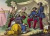 Правитель арабского города выражает покорность французскому генералу де Бюжо (1784--1849) (иллюстрация к L'Africa francese... - хронике французских колониальных захватов в Северной Африке, изданной во Флоренции в 1846 году)