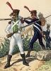 1809-13 гг. Пехотинцы полка Жозефа Наполеона и батальона Septinsulaire (фр.) Великой армии Наполеона. Коллекция Роберта фон Арнольди. Германия, 1911-29
