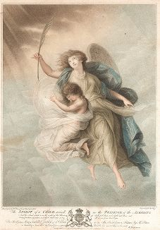Душа ребенка. Гравюра несравненного Франческо Бартолоцци с живописного оригинала М.У. Питерса.