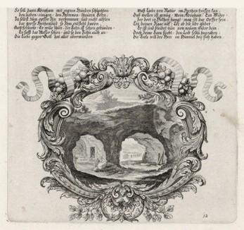 Пещера с могилой Сарры (из Biblisches Engel- und Kunstwerk -- шедевра германского барокко. Гравировал неподражаемый Иоганн Ульрих Краусс в Аугсбурге в 1700 году)