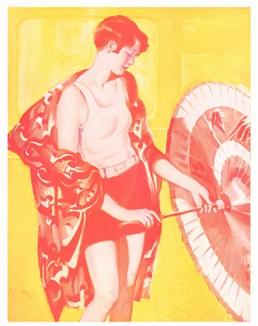 Девушка с зонтом. Реклама из американского журнала 1920-х годов.