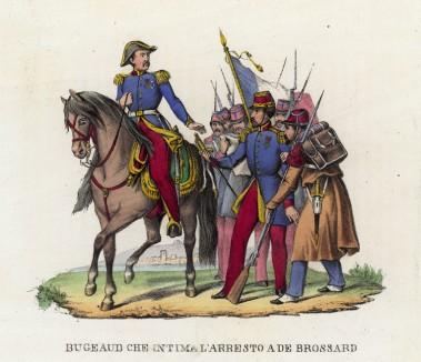 Генерал де Бюжо подвергает аресту генерала де Броссара (малоизвестный эпизод военной кампании французов в Алжире) (иллюстрация к L'Africa francese... - хронике французских колониальных захватов в Северной Африке, изданной во Флоренции в 1846 году)