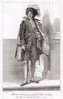 Иоахим Мюрат (1767-1815), маршал Франции с 1804 года. Galerie des Marechaux de France par Ch. Gavard, Париж, 1839 год.