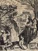 Охота на лесного голубя, с целью немедленного поедания оного на месте. Из первого (1622 г.) издания работы итальянского философа и натуралиста Джованни Пьетро Олины (1585-1645)
