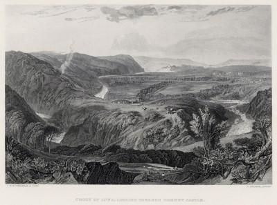 """Дорога к замку Хорнби (лист из альбома """"Галерея Тёрнера"""", изданного в Нью-Йорке в 1875 году)"""