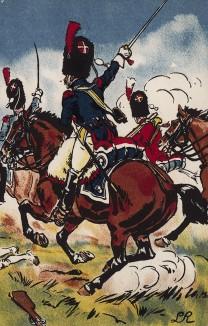 Атака французских конных гренадеров в сражении при Ваграме 5-6 июля 1809 г. Коллекция Роберта фон Арнольди. Германия, 1911-29