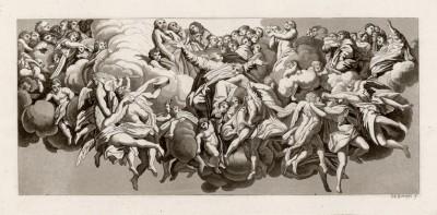 Плохая копия с работы Антонио Корреджо (из знаменитой работы Джулио Феррарио Il costume antico e moderno, o, storia... di tutti i popoli antichi e moderni, изданной в Милане в 1822 году (Европа. Том III))