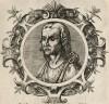 Гиппократ (ок. 460--377 гг. до н.э.) (лист 9 иллюстраций к известной работе Medicorum philosophorumque icones ex bibliotheca Johannis Sambuci, изданной в Антверпене в 1603 году)