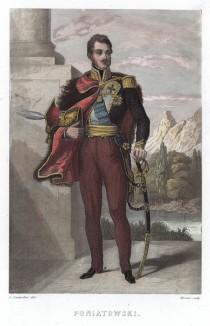 """Юзеф Понятовский (1763—1813) — племянник короля Польши, князь, генерал и первый кавалер высшего польского ордена Virtuti Militari. Отличился в """"битве народов"""" под Лейпцигом и стал маршалом Франции. Утонул, прикрывая отступление французов от Лейпцига"""