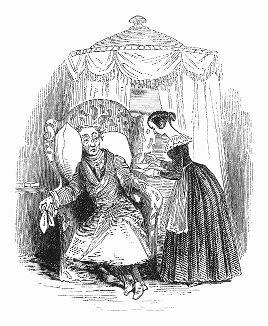 Иллюстрация к рассказу мисс Камиллы Тулман, опубликованному в 1844 году (The Illustrated London News №91 от 27/01/1844 г.)