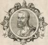 Никандр Колофонийский (1-я половина III в н.э.) -- врач античной эпохи, впервые описавший эффект змеиного яда и состав противоядий (лист 15 иллюстраций к работе Medicorum philosophorumque icones ex bibliotheca Johannis Sambuci, изданной в 1603 г.)
