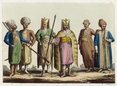 Воины Порты (из знаменитой работы Джулио Феррарио Il costume antico e moderno, o, storia... di tutti i popoli antichi e moderni, изданной в Милане в 1816 году (Европа. Том I))
