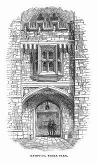 Ноул-хаус -- старинная дворянская усадьба на западе английского графства Кент,  построенная в 1456 -- 1485 гг. для архиепископа Томаса Бёрчера (1404 -- 1486) (The Illustrated London News №109 от 01/05/1844 г.)