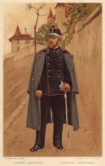 Военный юрист армии Швейцарии (из альбома хромолитографий L' Armée Suisse... Цюрих. 1894 год)