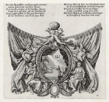Анна перед своим мужем Елканой (из Biblisches Engel- und Kunstwerk -- шедевра германского барокко. Гравировал неподражаемый Иоганн Ульрих Краусс в Аугсбурге в 1700 году)