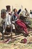 1812 г. Пехотинец каталонского полка и кавалерист полка польских улан Великой армии Наполеона. Коллекция Роберта фон Арнольди. Германия, 1911-29