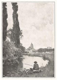 Спокойная рыбалка. Иллюстрация из журнала Scribner`s Magazine.