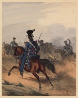 Офицер артиллерийского обоза королевства Вюртемберг (литография из Das Koniglich Wurttembergische Militair... Вюрцбург. 1840 год)