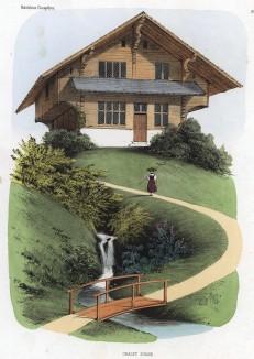 Швейцарское шале. Habitations Champêtres..., Париж, 1855 год