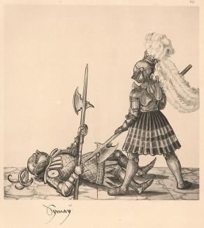 Из Freydal. Des Kaisers Maximilian I. Turniere und Mummereien (Репринт 1882 года. Вена. Лист 254)