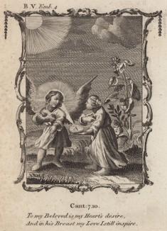 """Все мои мысли о возлюбленном (из бестселлера XVII -- XVIII веков """"Символы божественные и моральные и загадки жизни человека"""" Фрэнсиса Кварльса (лондонское издание 1788 года))"""