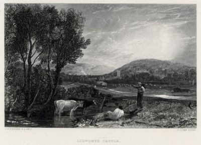 """Замок Лалворт в графстве Дорсетшир (лист из альбома """"Галерея Тёрнера"""", изданного в Нью-Йорке в 1875 году)"""