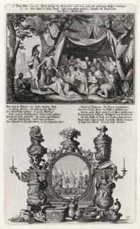 1. Израильтяне в пустыне 2. Моисей и Иисус Навин (из Biblisches Engel- und Kunstwerk -- шедевра германского барокко. Гравировал неподражаемый Иоганн Ульрих Краусс в Аугсбурге в 1700 году)