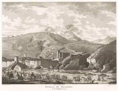 Сражение при Миллезимо 12 апреля 1796 г. Tableaux historiques des campagnes d'Italie depuis l'аn IV jusqu'á la bataille de Marengo. Париж, 1807