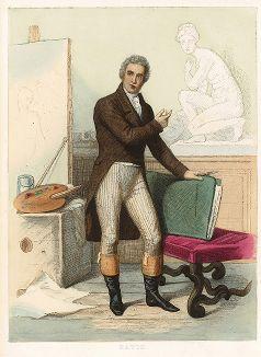 Жак-Луи Давид (1748-1825) - знаменитый французский художник. Лист из серии Le Plutarque francais..., Париж, 1844-47 гг.