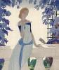 Реклама летней коллекции неизвестного французского дома моды. Иллюстрацию в технике пошуар выполнил художник эпохи ар-деко Гарсия Эдуардо Бенито. Les feuillets d'art. Париж, 1920