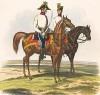 Штаб-офицер и полковой адъютант венгерской линейной пехоты австрийской армии (из K. K. Oesterreichische Armée nach der neuen Adjustirung in VI. abtheil. II te. Abtheil. Infanterie. Лист 7. Вена. 1837 год)