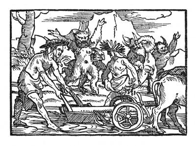 Посев риса. Иллюстрация Йорга Бреу Старшего к описанию путешествия на восток Лодовико ди Вартема: Ludovico Vartoman / Die Ritterliche Reise. Издал Johann Miller, Аугсбург, 1515