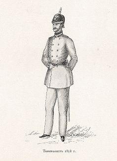 """Телеграфист 1858 года. """"Почта и телеграф в XIX столетии"""", СПб, 1901."""