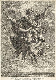 Восхищение апостола Павла до третьего неба. Гравюра Жана Пэна по оригиналу Никола Пуссена, 1655 год.