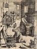 Приготовление пасты для кормления соловья. Из первого (1622 г.) издания работы итальянского философа и натуралиста Джованни Пьетро Олины (1585-1645) Uccelliera overo discorso della natura, e proprieta…