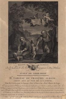 Святое семейство. Galérie du Palais Royal gravée d'après les tableaux des différentes ecoles... Париж, 1786