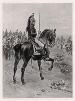 """Офицер 4-го полка французских драгун (иллюстрация к известной работе """"Кавалерия Наполеона"""", изданной в Париже в 1895 году)"""